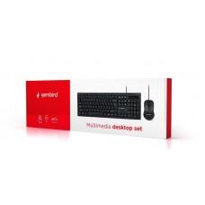 Комплект клавиатура + мышь Gembird KBS-UM-03-UA Black USB