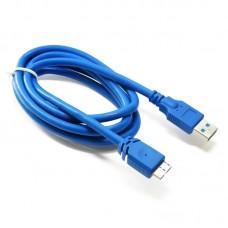 Кабель Extradigital (KBU1626) USB-MicroUSB 3.0 AM 1.5m Blue