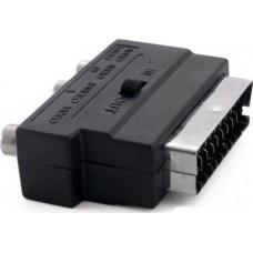 Адаптер SCART-3RCA Extradigital Black (KBV1730)