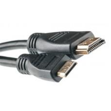 Кабель HDMI-MiniHDMI v1.3 PowerPlant 0.5m Black (KD00AS1192)