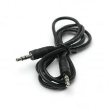 Кабель Audio Aux 3.5мм-3.5мм PowerPlant 1m Black (KD00AS1262)