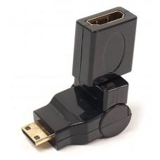 Переходник miniHDMI-HDMI PowerPlant 360 градусов Black