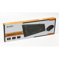 Комплект клавиатура + мышь A4Tech KR-8372 Black USB