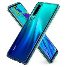 Чехол накладка TPU Spigen Ultra Hybrid для Huawei P30 Crystal Transparent (L38CS25737)