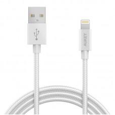 Кабель USB-Lightning Aukey CB-D16 1.2m White (LLTS144484)