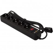 Сетевой фильтр LogicPower 5 розеток 2m 10A LP-X5-UPS-2M Black (LP2753)