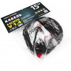 Кабель HDMI-HDMI v1.4 LogicPower 15m Black/Red (LP2770)