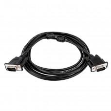 Кабель VGA-VGA LogicPower 1.8m Black (LP3685)