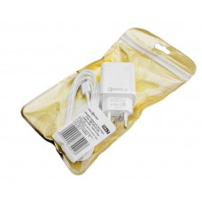 Зарядное устройство сетевое LogicPower QC 1USB 3A АС-010 White (LP9467) + cable 2m USB-Type-C