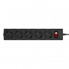 Сетевой фильтр LogicPower 5 розеток 5m 16A LP-X5 Premium Black (LP9585)