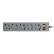 Сетевой фильтр LogicPower 5 розеток 3m 10A LP-X5 Premium Grey (LP9587)