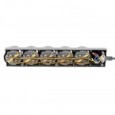 Сетевой фильтр LogicPower 5 розеток 5м 16A LP-X5 Premium Grey (LP9588)