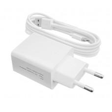Зарядное устройство сетевое LogicPower 1USB 2.4A АС-013 White (LP9625) + cable USB-Type-C