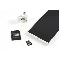 Карта памяти MicroSDHC 32GB UHS-I Class 10 GoodRam + Adapter SD + OTG Card reader (M1A4-0320R12)