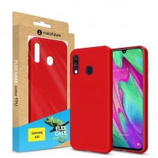 Чехол накладка TPU MakeFuture Flex для Samsung A40 A405 Red (MCF-SA405RD)