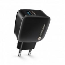Адаптер сетевой MakeFuture 1USB 3A QC3.0 Black (MCW-11BK)