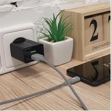 Зарядное устройство сетевое MakeFuture 2USB 2.4A Black (MCWC-C22BK) + cable USB-Type-C