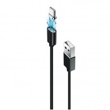 Кабель USB-Type-C Grand-X Magnetic 1m Black (MG-01C)