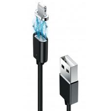Кабель USB-Lightning Grand-X Magnetic 1m Black (MG-01L)