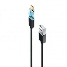 Кабель USB-MicroUSB Grand-X Magnetic 1m Black (MG-01M)