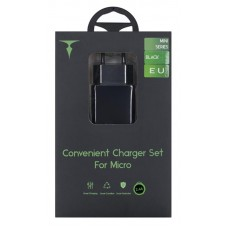 СЗУ T-phox Mini 1USB 2.4A Black + cable USB-MicroUSB