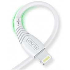 СЗУ T-phox Mini 1USB 2.4A White + cable USB-Lightning