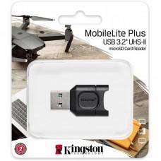 Кардридер USB 3.2 Kingston MobileLite Plus microSD Black (MLPM)
