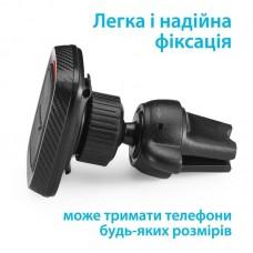 Автодержатель Grand-X Magnetic (крепление на дефлектор) MT-01 Black