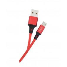 Кабель USB-MicroUSB Tecro 1m Red (MU-0100RD)
