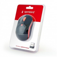 Мышь Wireless Gembird MUSW-4B-03-R Black/Red USB