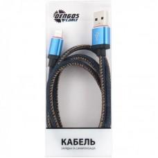 Кабель USB-Lightning Dengos 1m Jeans (NTK-L-MT-JEANS)