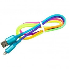Кабель USB-Lightning Dengos 1m Rainbow (NTK-L-SET-RAINBOW)