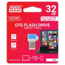 Флешка USB 3.0 32GB Type-C GoodRam ODD3 (DualDrive) Blue (ODD3-0320B0R11)