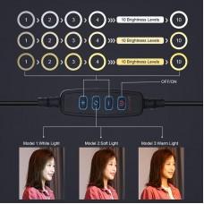"Лампа кольцевая LED USB Puluz PKT3039 10.2"" + настольное крепление 1.4 м (PKT3039) Black"