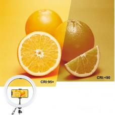 "Лампа кольцевая LED Puluz PKT3050EU 12"" + штатив 1.1 м (PKT3050EU) Black"