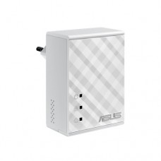 Адаптер Asus PL-N12 RJ45-RJ45 Ethernet-Powerline N300 2x 10/100 FE (2шт) Silver (PL-N12)