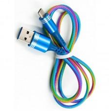 Кабель USB-Type-C Dengos 1m Rainbow (PLS-TC-PRUZH-RAINBOW)