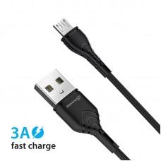 Кабель USB-MicroUSB Grand-X 3A 1m Fast Сharge Black (PM-03B)