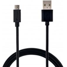 Кабель USB-MicroUSB Grand-X 2.1А 1.5m CU Black (PM015B)
