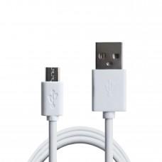 Кабель USB-MicroUSB Grand-X 2.1А 1.5m CU White (PM015W)