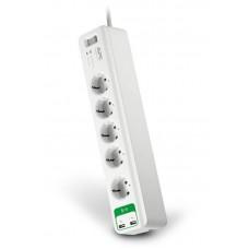 Сетевой фильтр APC Essential SurgeArrest White (PM5U-RS) 5 розеток 2USB 1.8m 10A