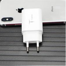 Адаптер сетевой T-phox Pocket 2USB 2.1A White