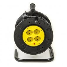 Удлинитель PowerPlant JY-2000/20 4 розетки 20m на катушке 8A Black