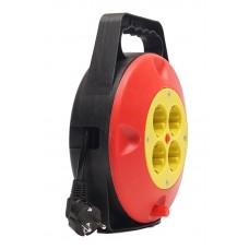 Удлинитель на катушке PowerPlant JY-2002/10 4 розетки 10m 10A Black/Red