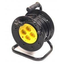 Удлинитель на катушке PowerPlant JY-2002/20 4 розетки 20m 10A Black/Yellow