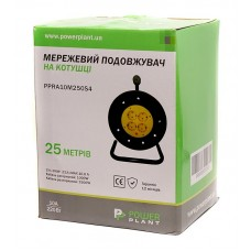 Удлинитель на катушке PowerPlant JY-2002/25 4 розетки 25m 10A Black/Yellow