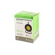 Удлинитель на катушке PowerPlant JY-2002/30 (PPRA10M300S4) 4 розетки 30m 10A Black/Yellow