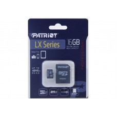 Карта памяти MicroSDHC 16GB UHS-I Class 10 Patriot LX + Adapter SD (PSF16GMCSDHC10)