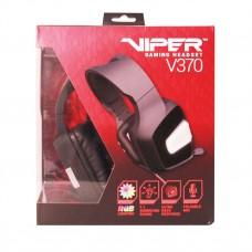 Наушники гарнитура накладные Patriot Viper V370 Virtual 7.1 Stereo Black (PV3707UMXK)