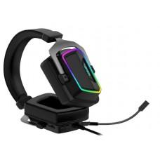 Наушники гарнитура накладные Patriot Viper V380 Virtual 7.1 PC Gaming Black (PV3807UMXEK)